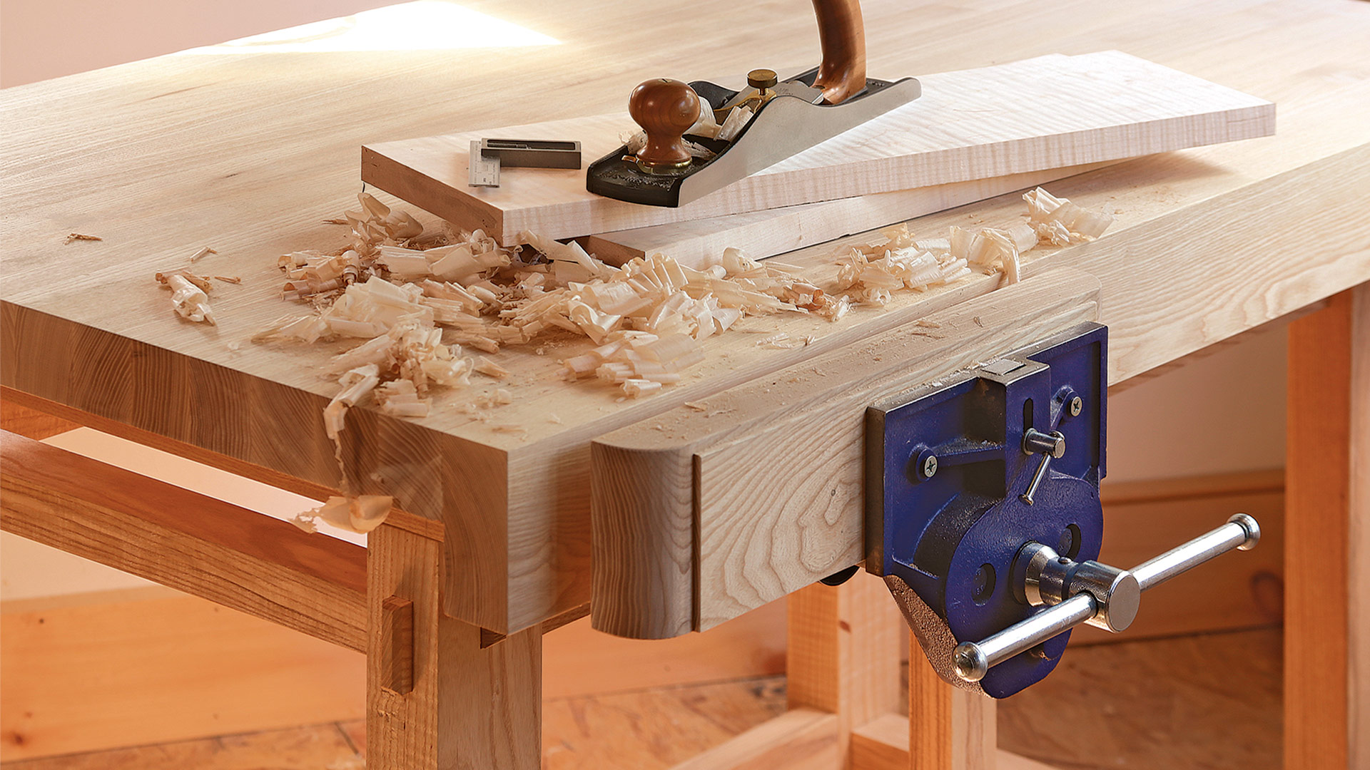 Woodworking Tool Bench Assembling The Small Sturdy Workbench Finewoodworking