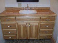Custom Hickory Bathroom Vanity - FineWoodworking