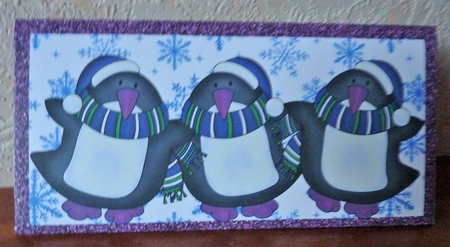 Blue And Purple Sparkly Penguins Money Wallet Cup844151