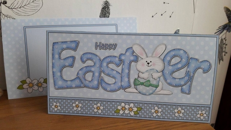 Easter Little Bunny Money Or Gift Wallet Card Kit Photo