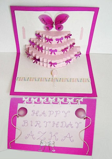 Birthday Cake Pop Up Insert - CUP691889_596 Craftsuprint - birthday cake card template