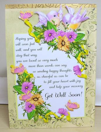 Get Well Soon Card with Flowers and Birds - CUP308747_1446 - get well soon card