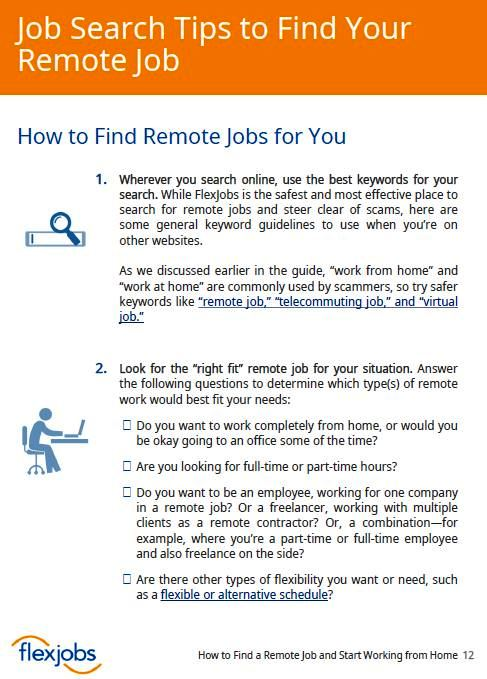 Download FlexJobs\u0027 Guide to Find a Remote Job and Start Working from