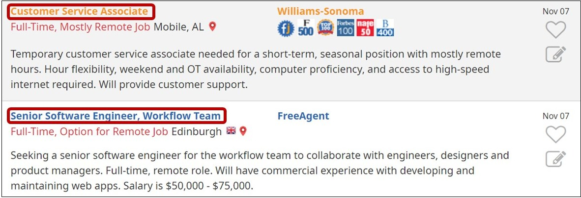 Job Search Tip Using the Job Icons on FlexJobs
