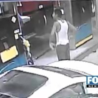 Two Men Hold Up A Man At Gas Station