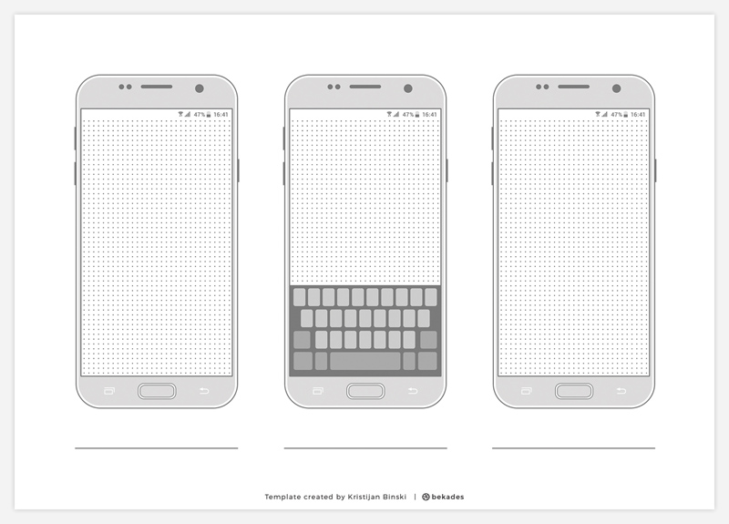 Device Wireframe Templates Collection - Free Resource - Freebie Supply - wireframe templates