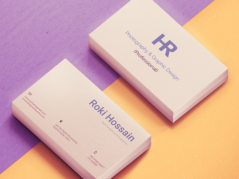 Personal Business Card - Free PSD - Freebie Supply