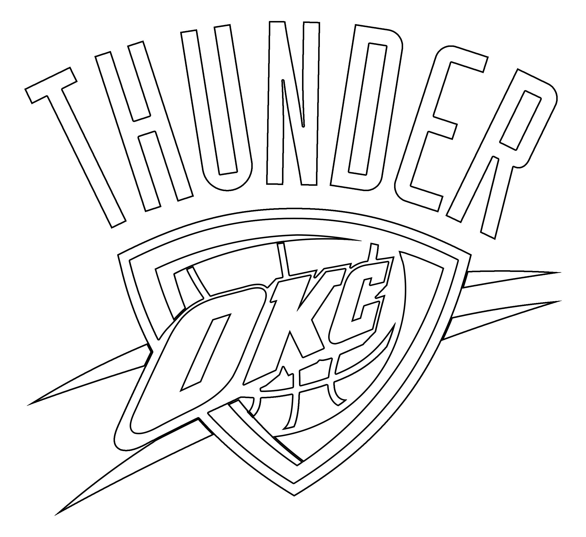 Okc Thunder Pages Coloring