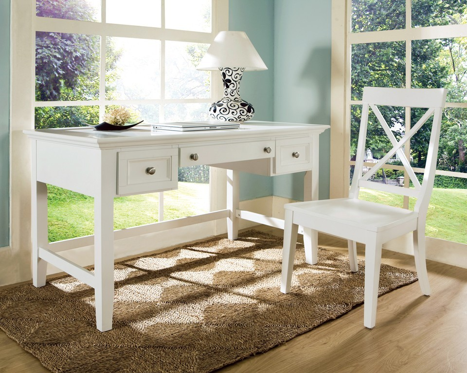 Steve Silver Co Oslo Writing Desk White Os150dw Home