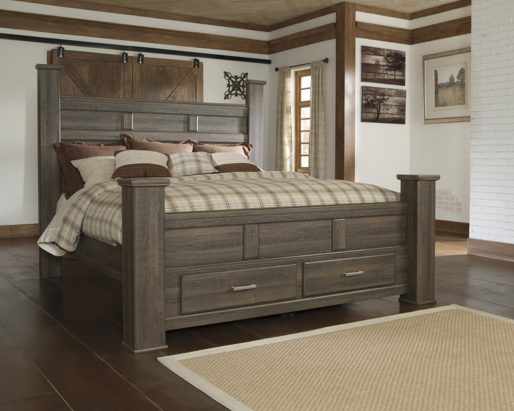 Oak Furniture Land Beds Juararo King Poster Bed With Storage