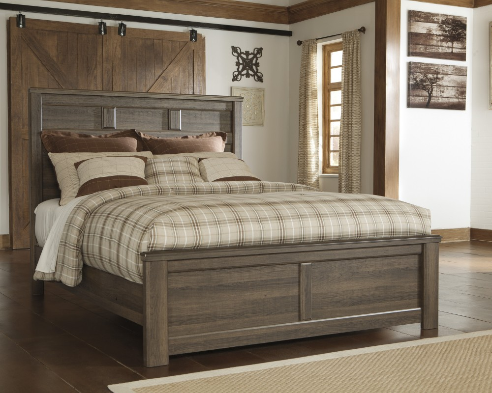 Oak Furniture Land Beds Juararo Queen Panel Bed