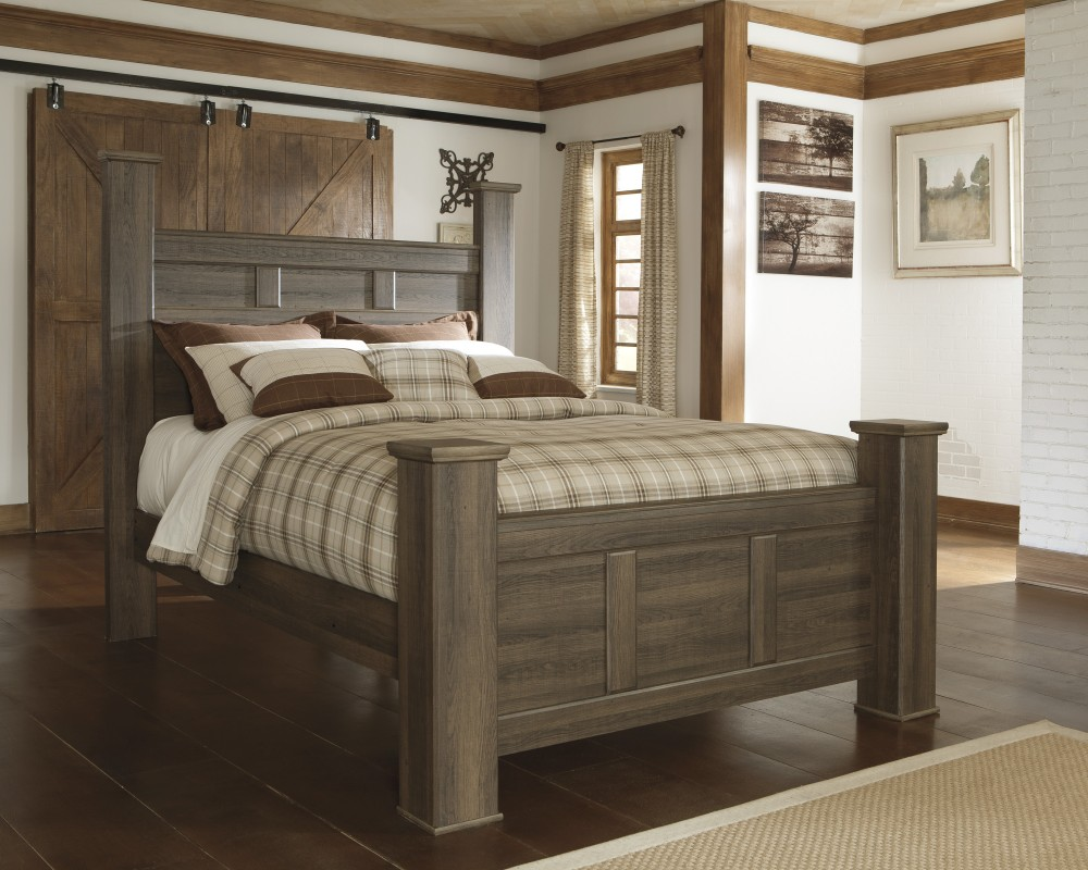 Oak Furniture Land Beds Juararo Queen Poster Bed