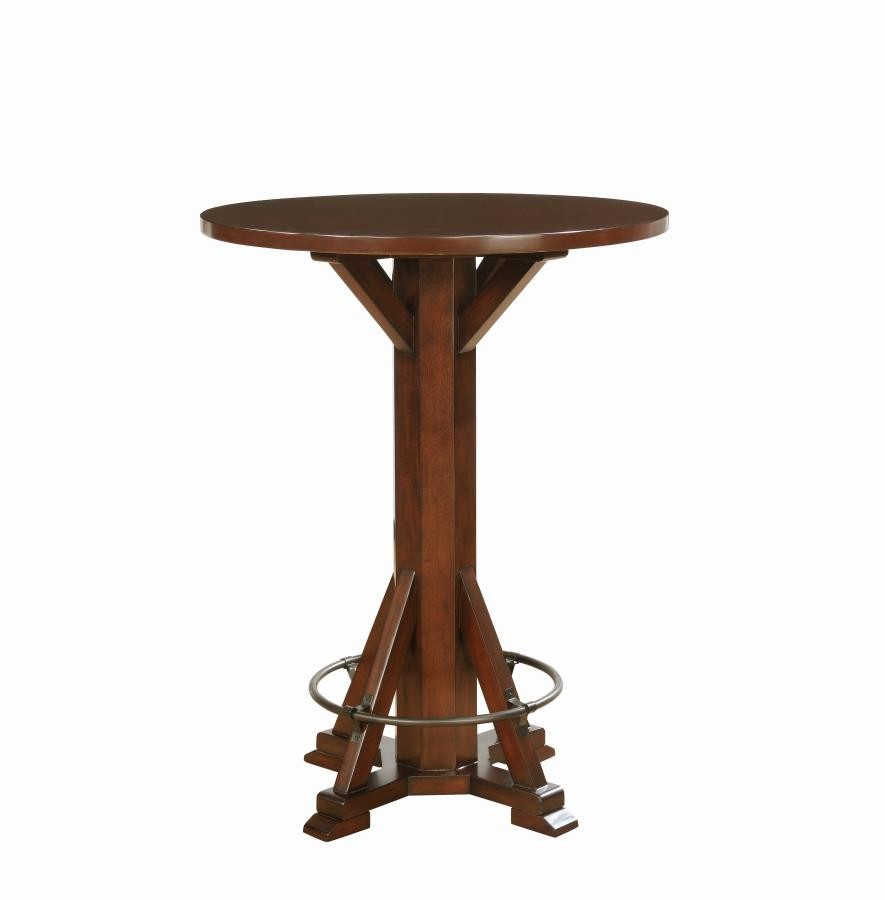 Tables Rec Room/ Bar Tables: Wood - Rustic Chestnut Round Bar