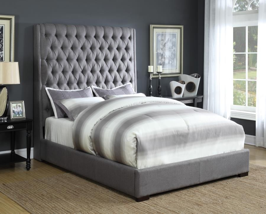 Camille Upholstered Bed Queen Bed 300621q Complete