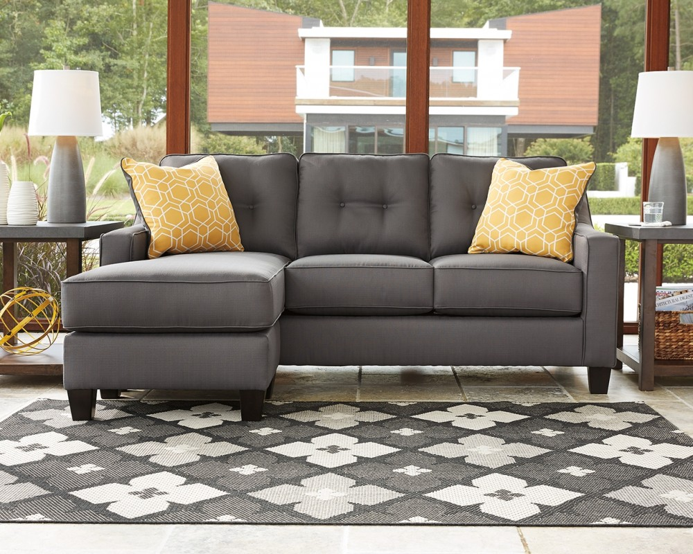 Gray Sofas For Living Room Aldie Nuvella Gray Sofa Chaise