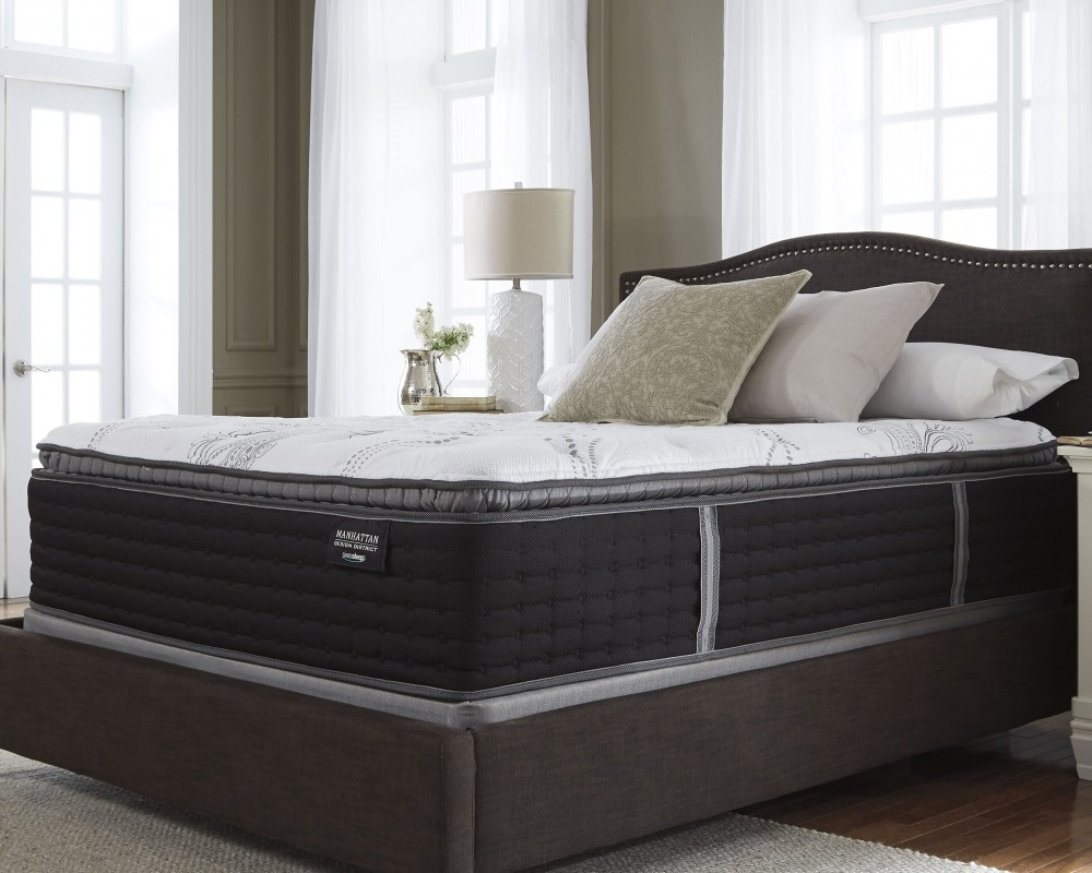 Pillow Top King Mattress Manhattan Design District Firm Pt White King Mattress