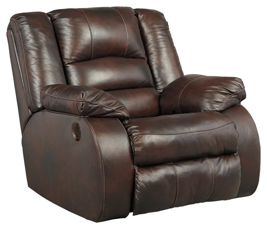Electric Recliner Leather Chairs Levelland Cafe Power Rocker Recliner