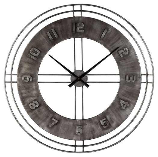 Black Wall Clock Ana Sofia Antique Gray Wall Clock