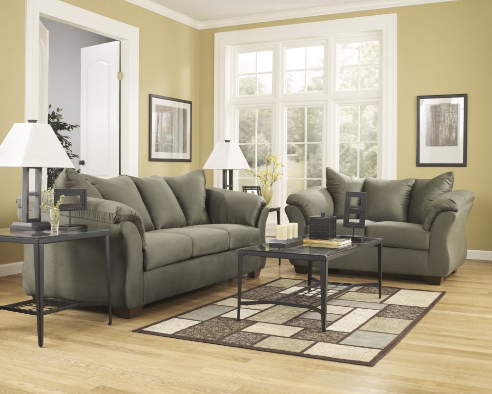 Emelen Sofa And Loveseat Darcy Sage Sofa Loveseat