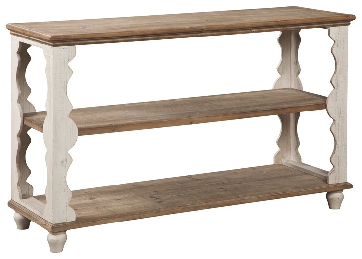 Freedom Console Table Alwyndale Antique White Brown Console Sofa Table A4000107