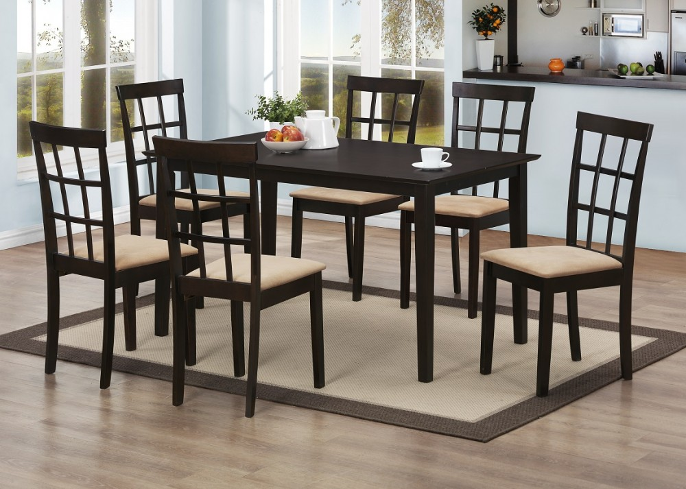 Discount Dining Table 6 Chairs D187 Table 6 Dining