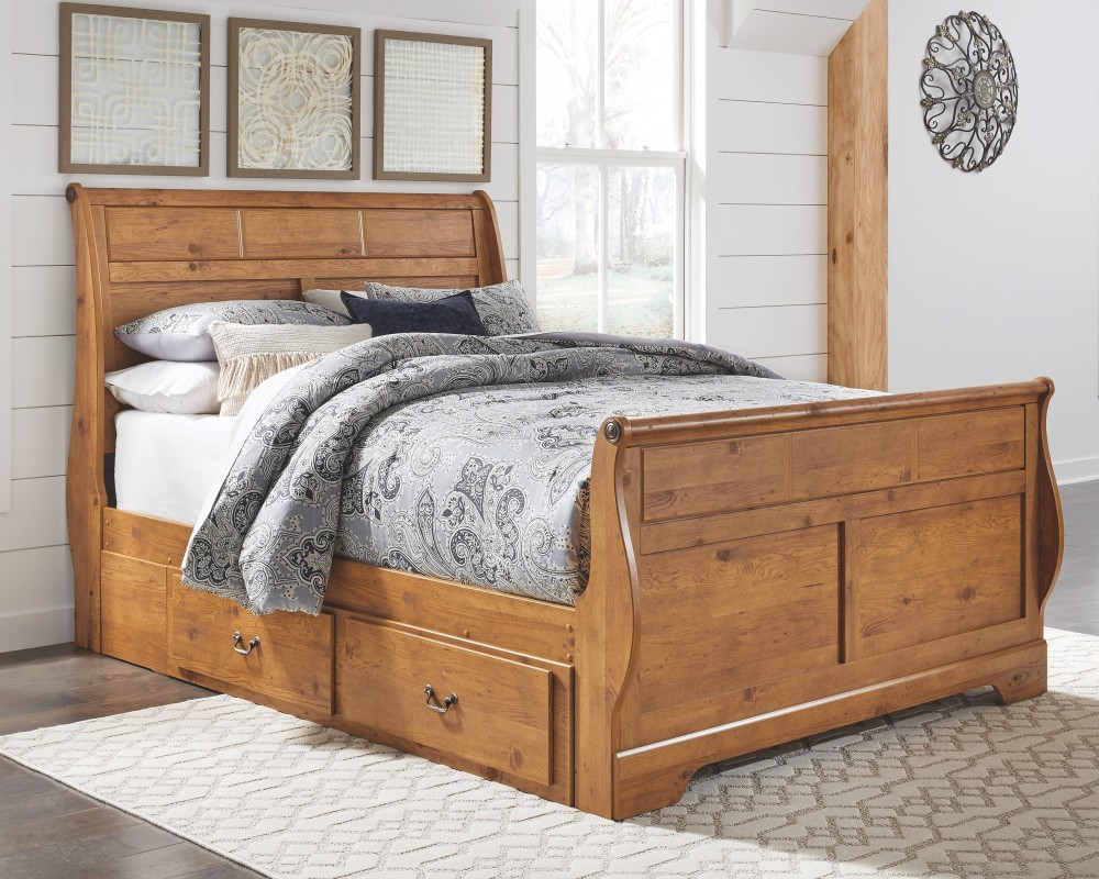 Bedding Storage Bittersweet Queen Sleigh Bed With Storage