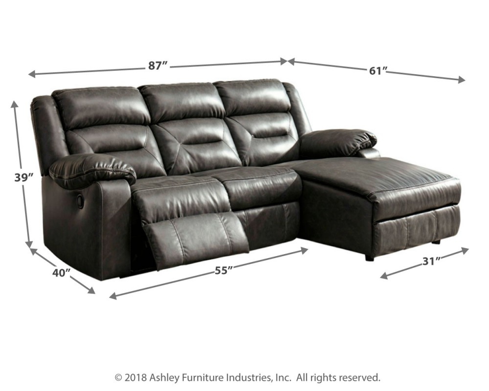 Chaise Nils Coahoma 3 Piece Reclining Sectional With Chaise