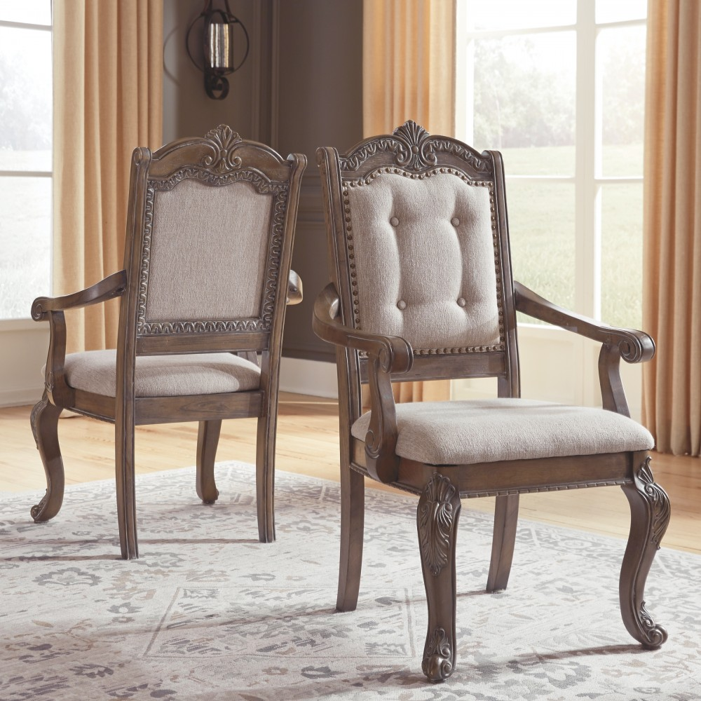 Arm Chairs Charmond Brown Dining Uph Arm Chair 2 Cn
