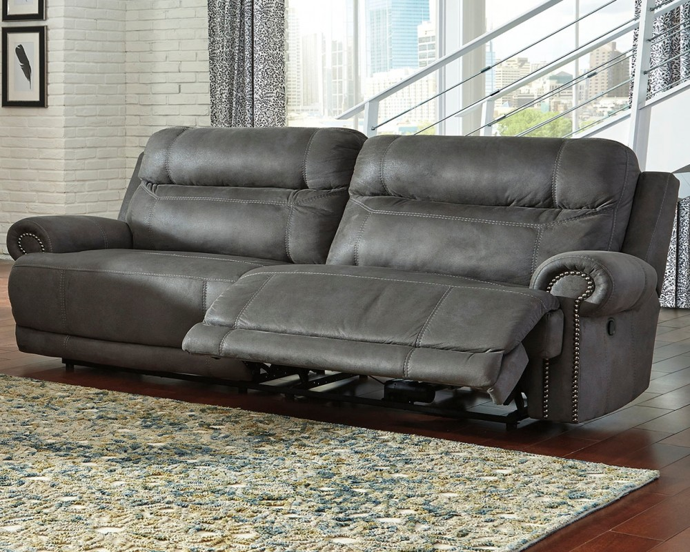Ashley Pull Out Sofa Austere - Gray - 2 Seat Reclining Sofa | 3840181