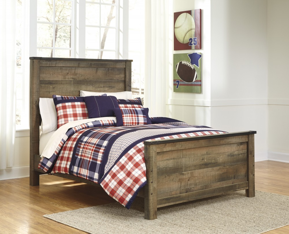Oak Furniture Land Beds Trinell Full Panel Bed