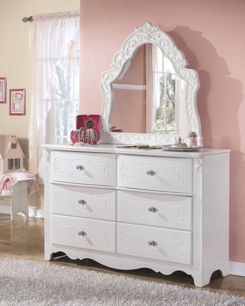 Kids Furniture Exquisite Dresser French Style Mirror