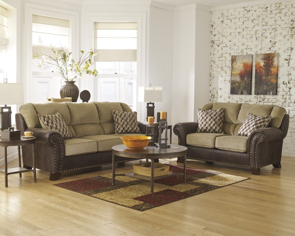 Emelen Sofa And Loveseat Vandive Sand Sofa Loveseat