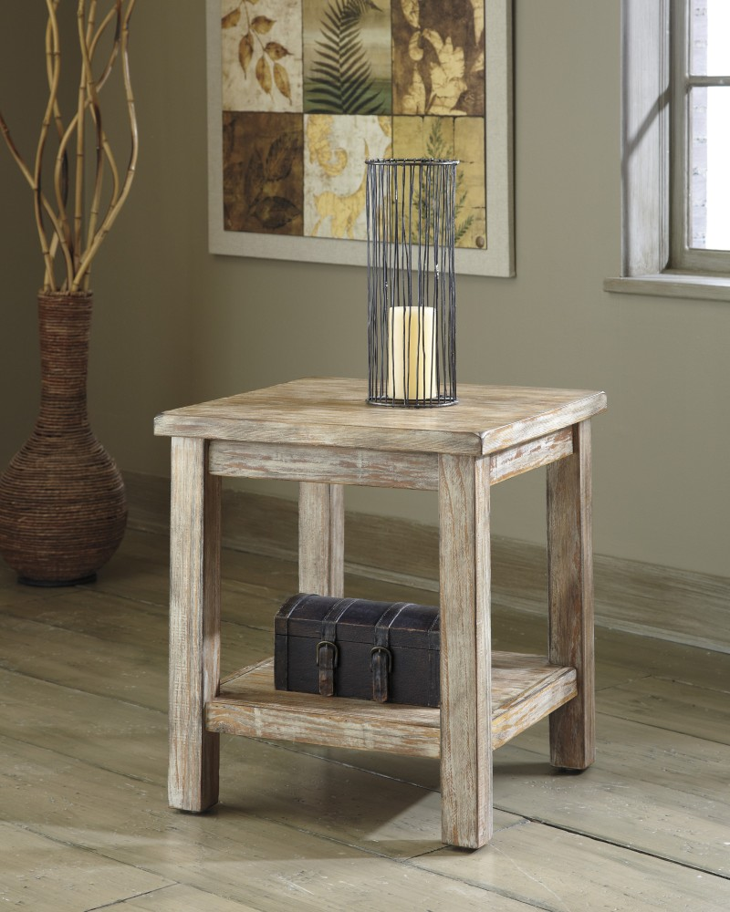 Rustic Wood End Table Rustic Accents Chairside End Table