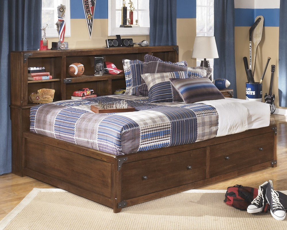 Bookcase Bed Delburne Full Bookcase Bed With Storage