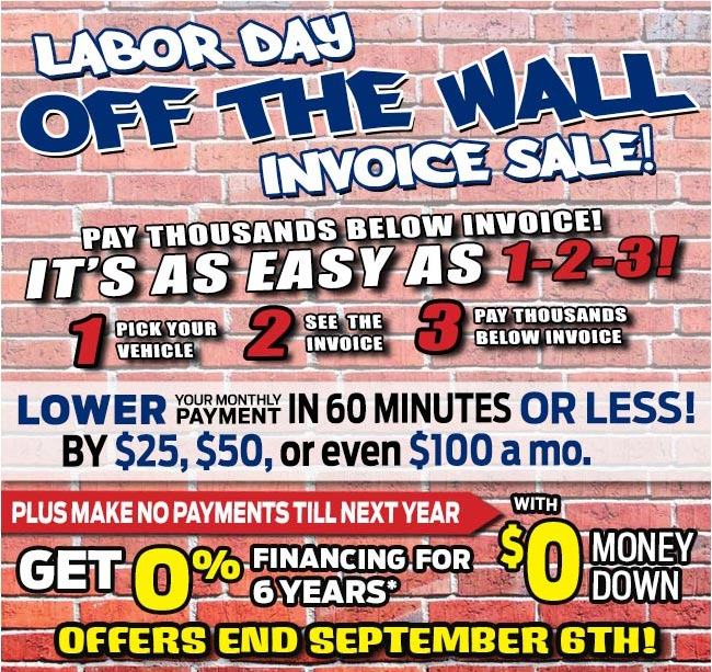 Lakeland Automall Off The Wall Invoice Sale