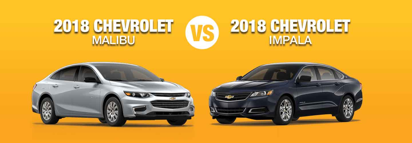 2018 Chevy Malibu vs 2018 Chevy Impala Compare Specs