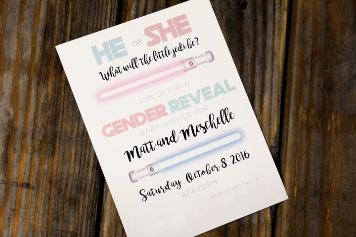 Creative  Unique Gender Reveal Party Invitation Ideas