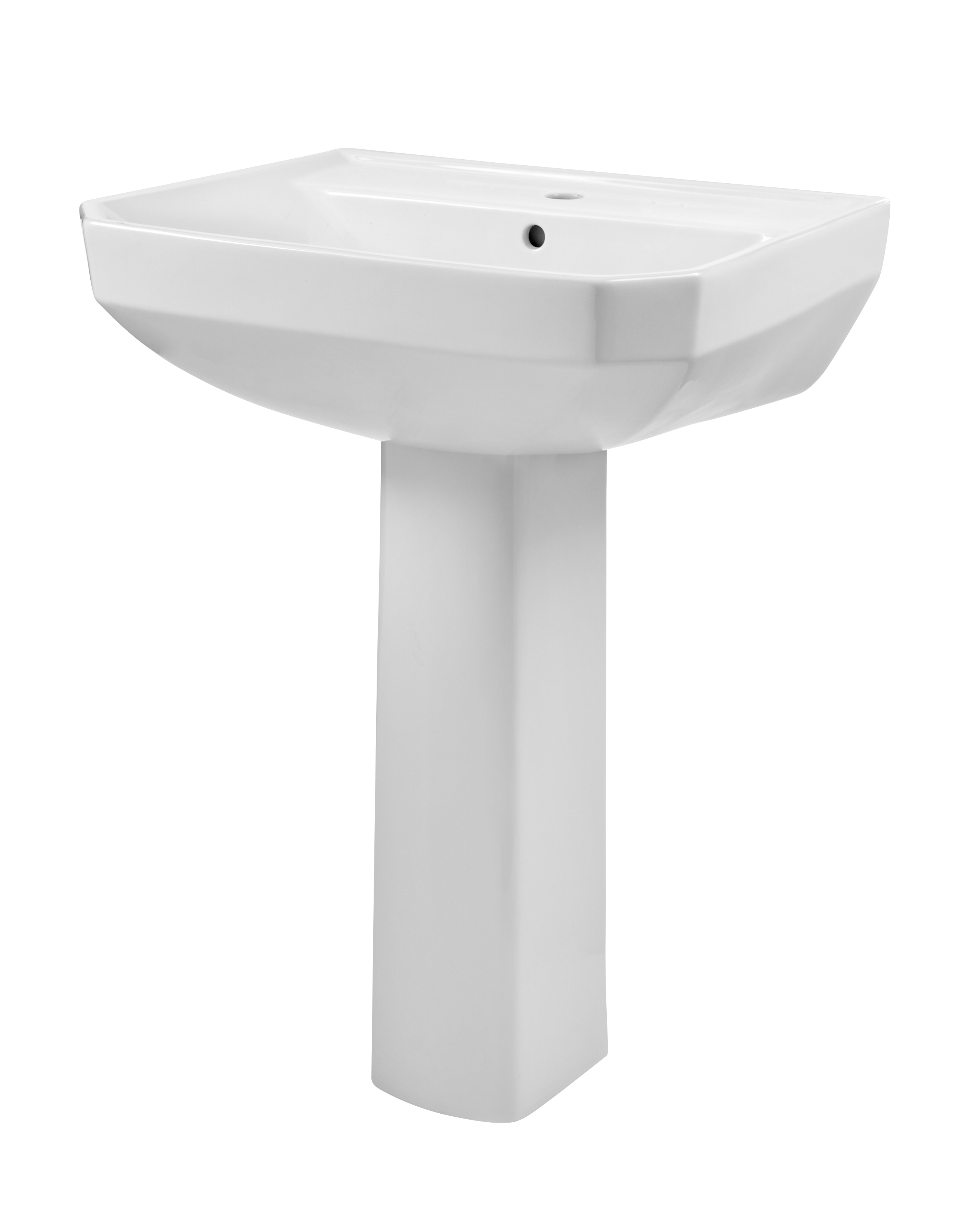 Industrial Pedestal Sink Viper Single Hole Standard Pedestal Bathroom Sink