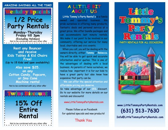 Hire Little Tommy\u0027s Party Rentals - Party Rentals in West Babylon