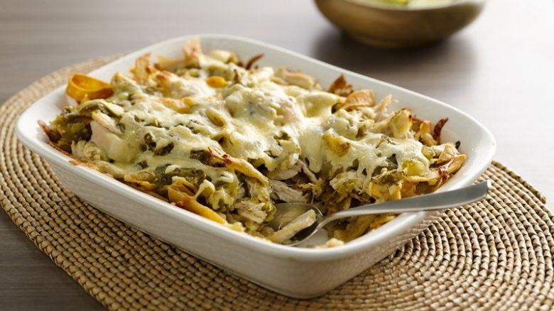 Paleo Chicken Chilaquiles Casserole
