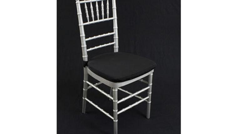 Chair Cushion Black Bengaline 1quot W Ties Rentals Online