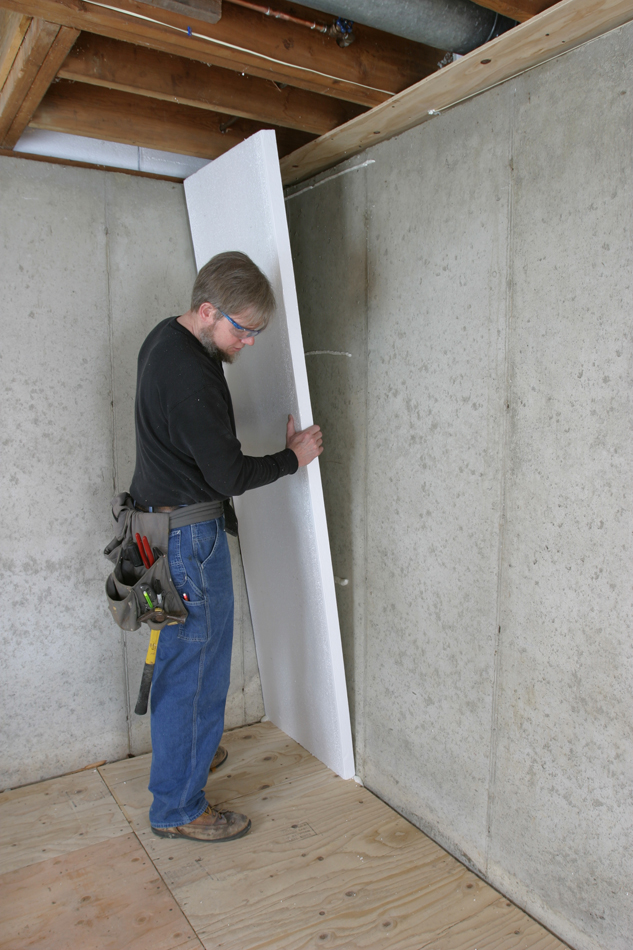 How to Insulate a Basement Wall - GreenBuildingAdvisor - Concrete Wall Insulation