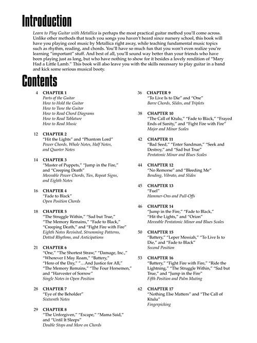 METALLICA - LEARN TO PLAY GUITAR WITH METALLICA - Joe Charupakorn na