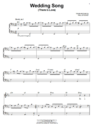 Wedding Song (There Is Love) | Sheet Music Direct