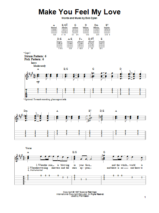 Modern Make You Feel My Love Adele Chords Gift Song Chords Images