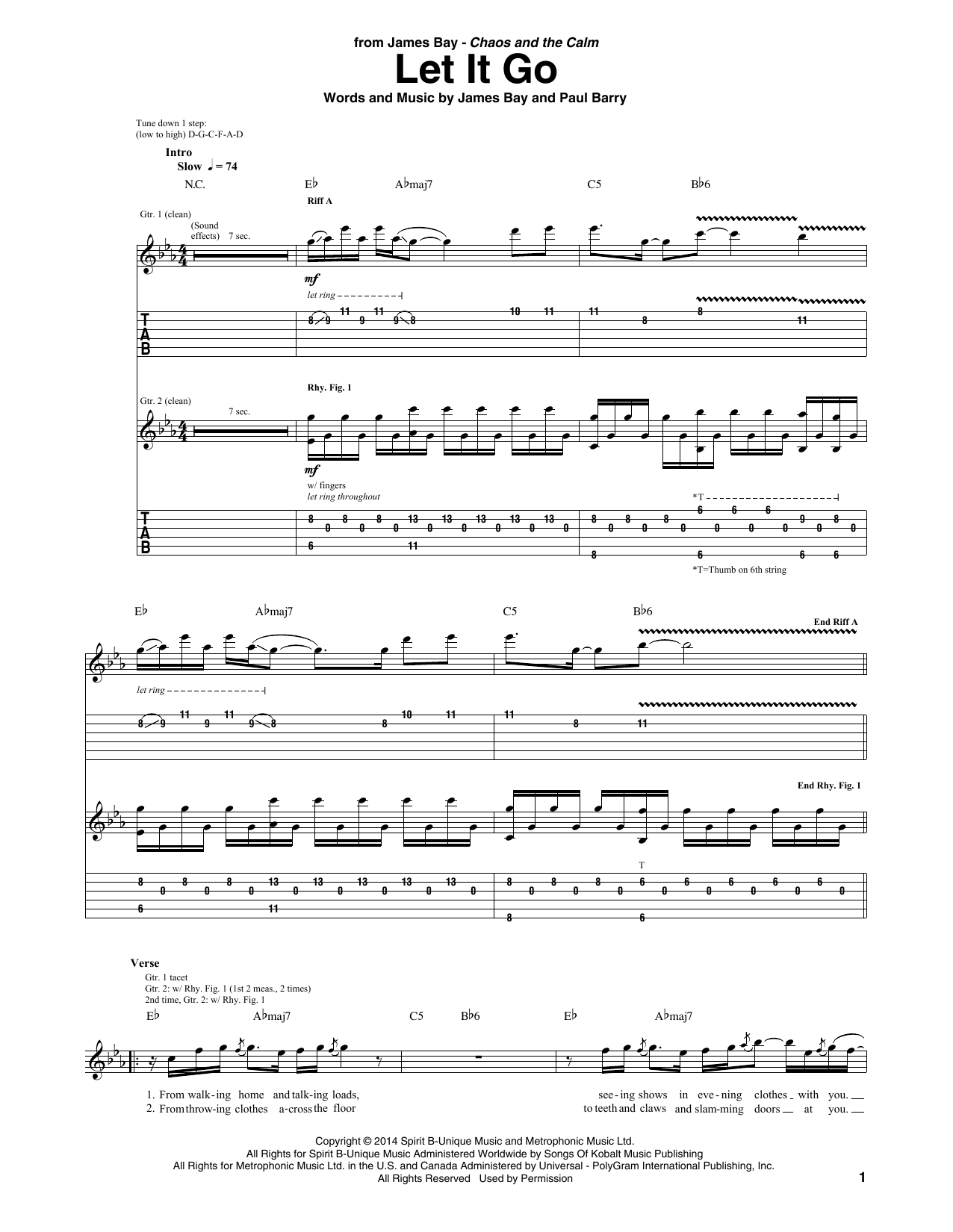 Bad James Bay Chords Sheet Music Digital Files To Print Licensed James Bay
