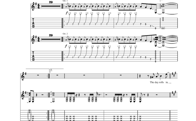 Aerosmith Flesh Sheet Music