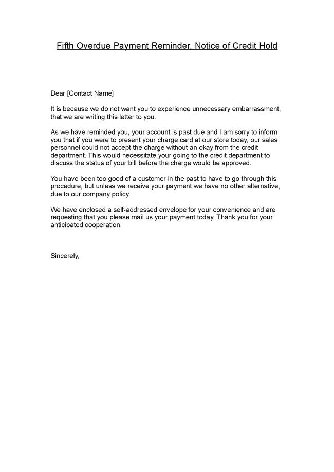 Payment Notice Letter Sample – Reminder Note Sample