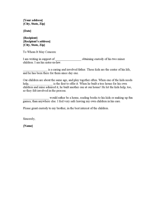 Reference Letter Court – Character Reference Letter for Court