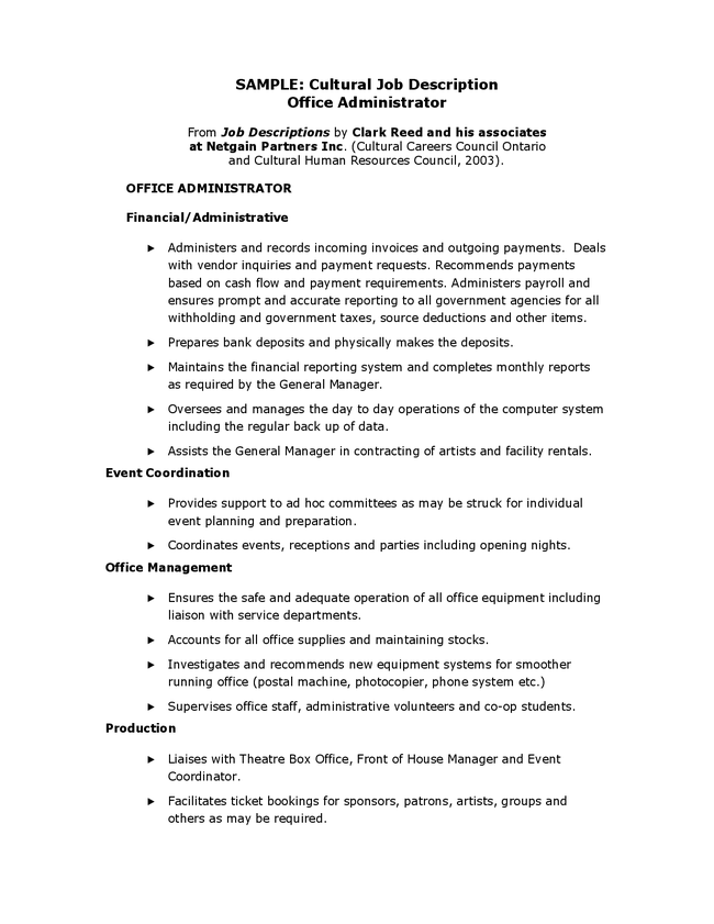 office coordinator job description | Template